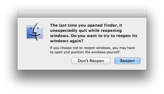 finder windows disappear